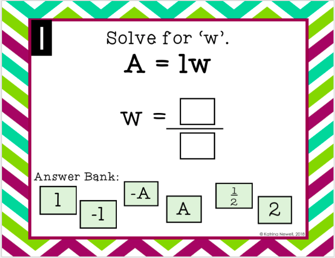 parallelograms maze activity answer key page 2 katrina newell
