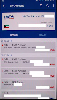 NBK account history