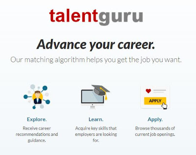 Source: talentguru website. The talentguru initiative will help job seekers tailor their skillsets to market demand.