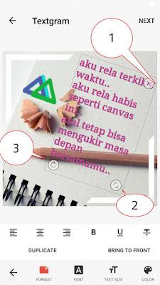 Membuat gambar dengan textgram