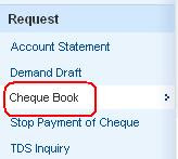 Order Cheque Book HDFC Bank