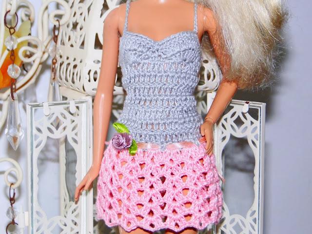 Vestidinho de Crochê Para Barbie 4