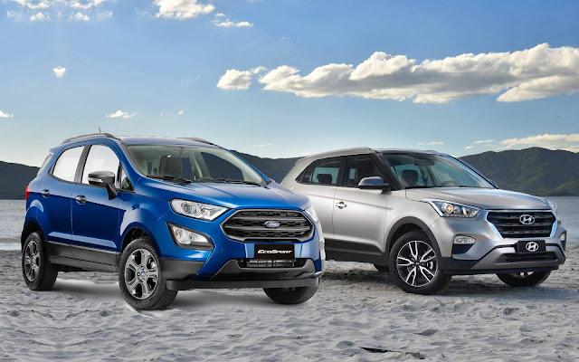Ford EcoSport 2018 FreeStyle x Hyundai Creta 1.6 - Automáticos