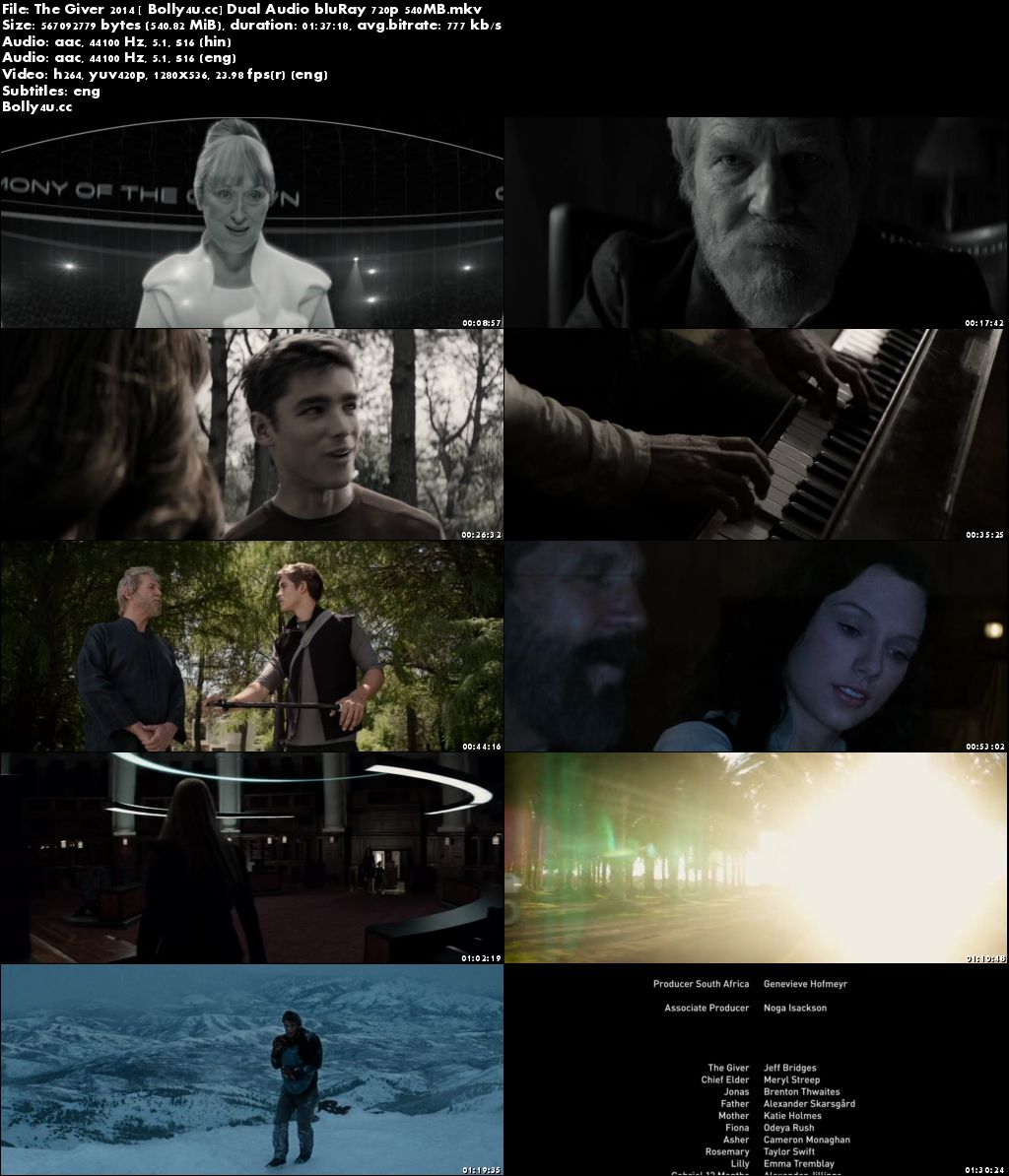 The Giver 2014 BluRay 300MB Hindi Dual Audio 480p ESub Download