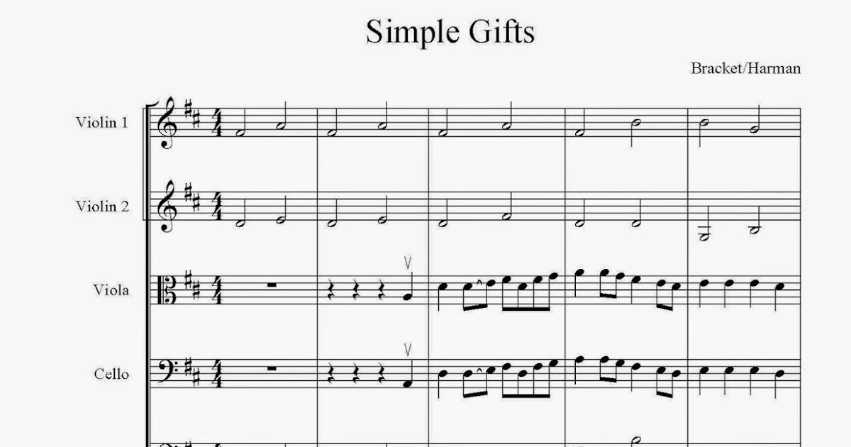All Music Chords simple gifts cello sheet music : Orchestra Classroom Ideas: Simple New Arrangements for String ...