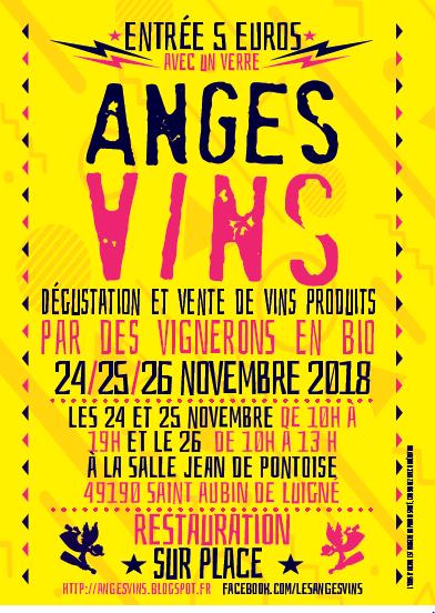 Affiche du salon Anges Vins vignerons en bio