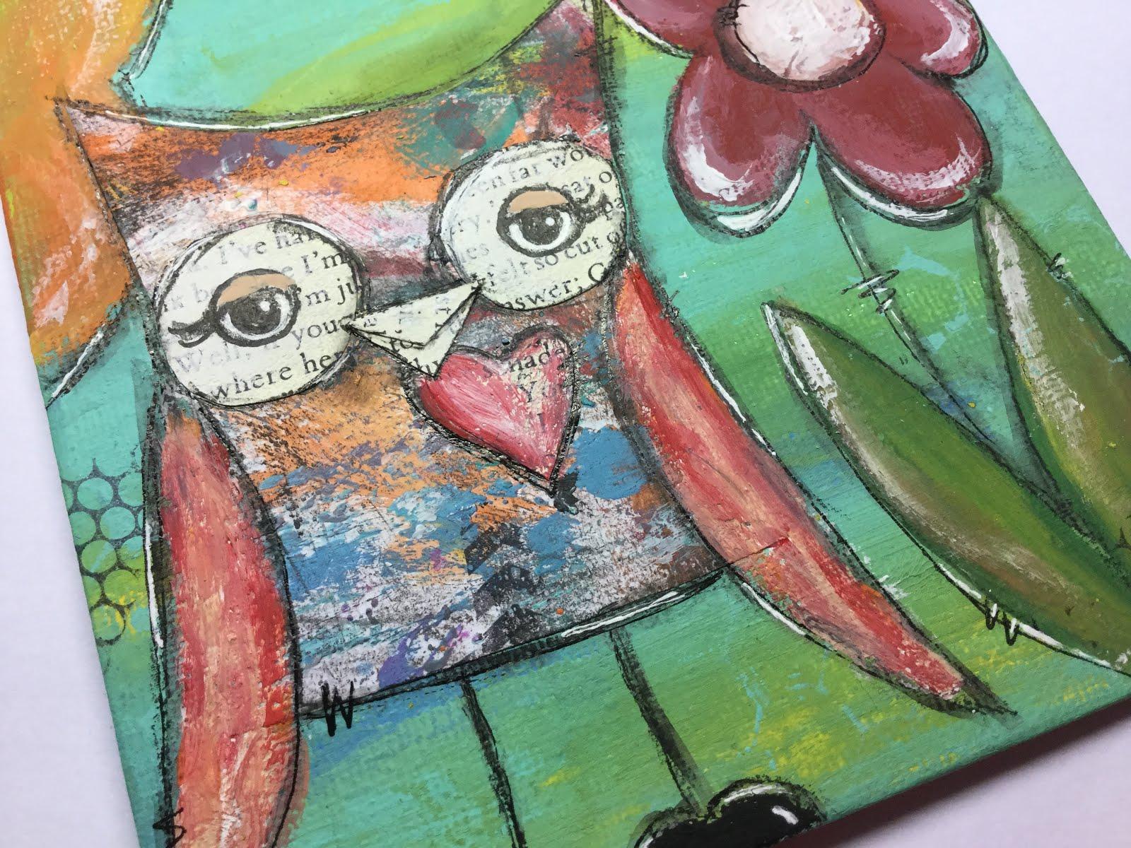 Owl With A Flower Helmar Creative Team