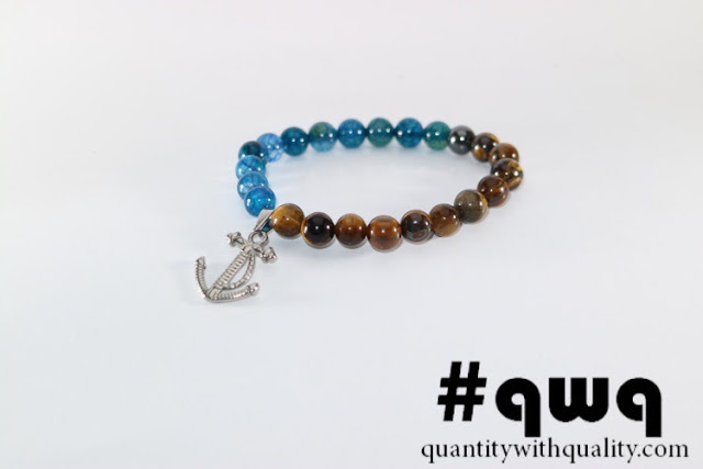 gelang batu beads bracelet elastis kulit nylon tahan karat
