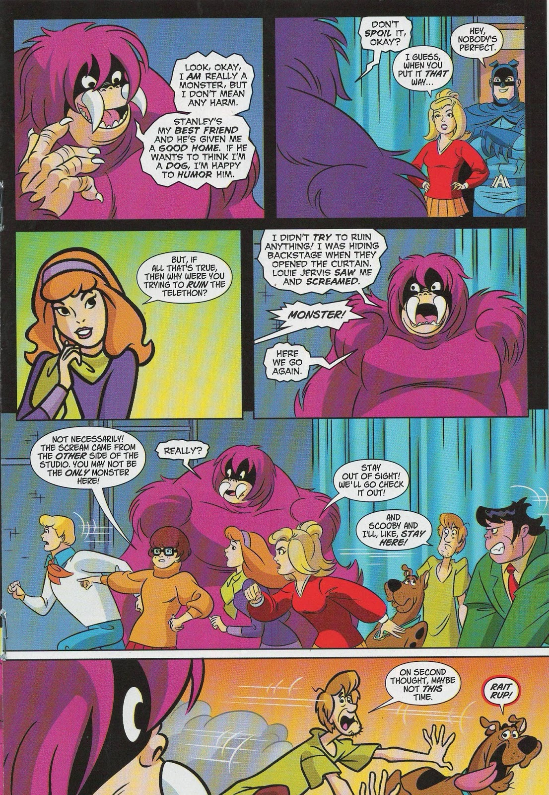 Is It Just Me Or Does That Third Panel Of Daphne With Its Thick Outline And Green Background Coloring Inconsistent The Rest Page All