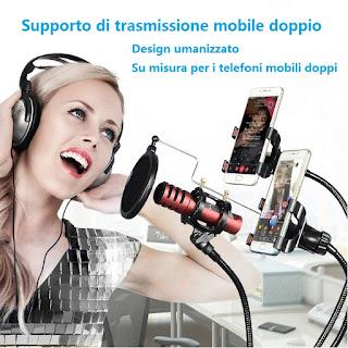 tavolo microfonica supporto