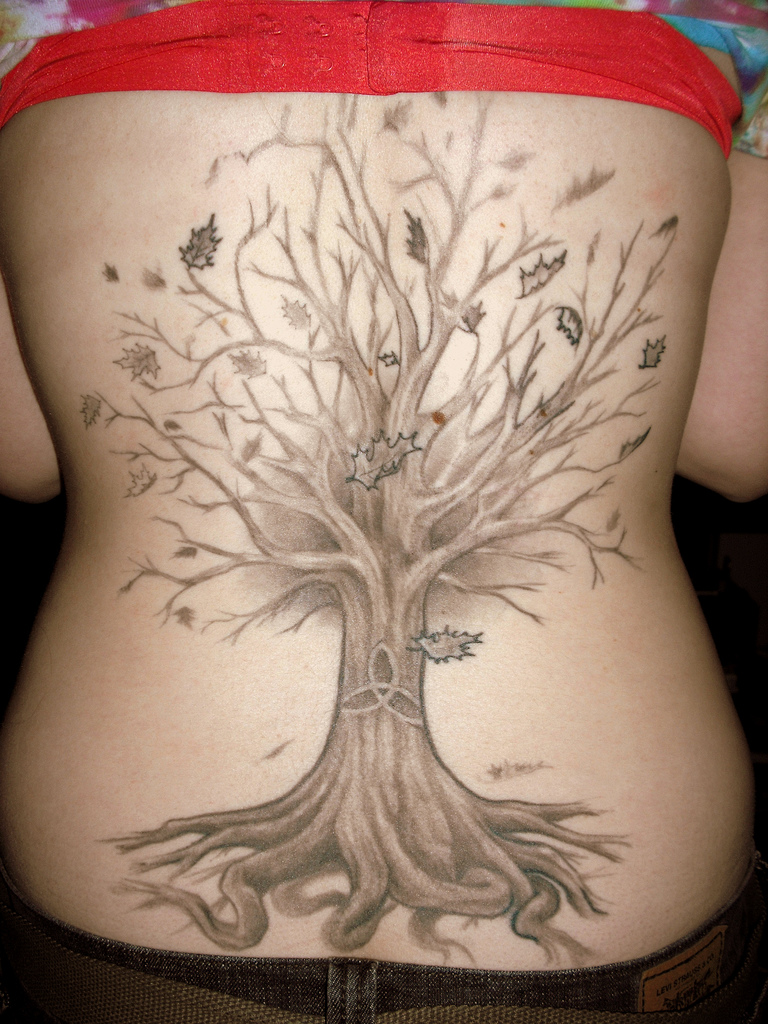 Tree Of Life Tattoo With Heart Roots: Tree Tattoo Designs