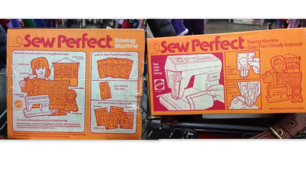 Mattel Sew Perfect Sewing Machine Original Box