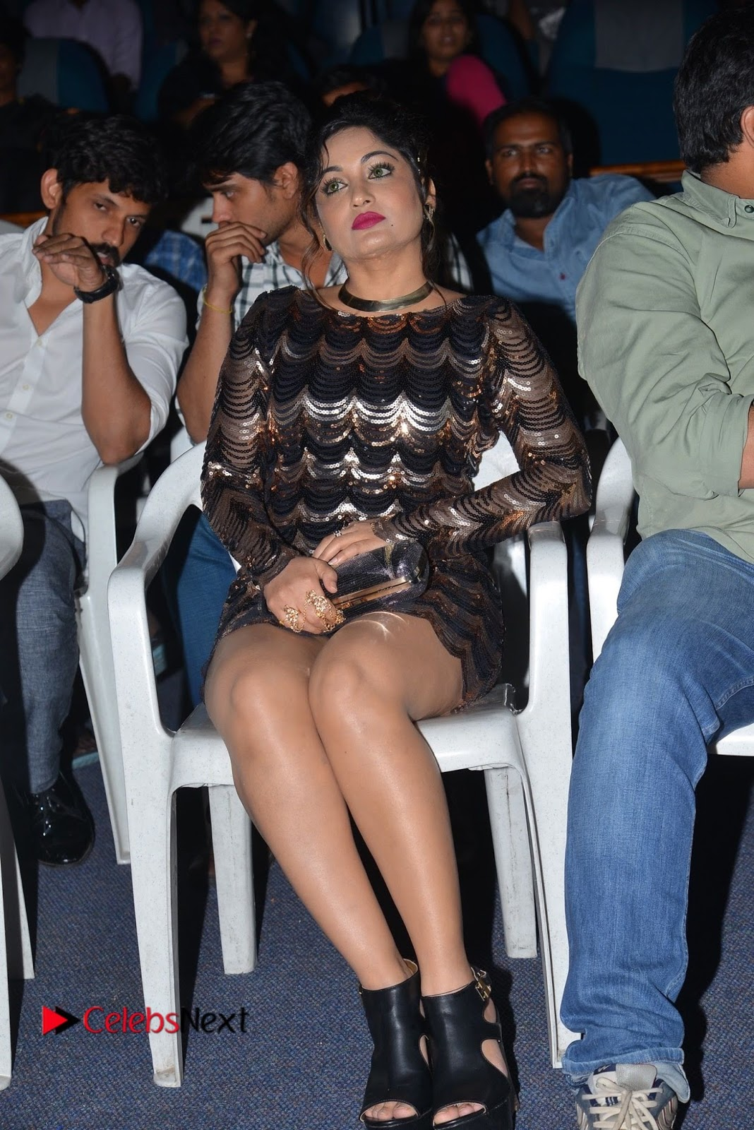 Actress Madhavi Latha  Pictures in Short Dress at On Mona Birthday Premiere  0060.JPG