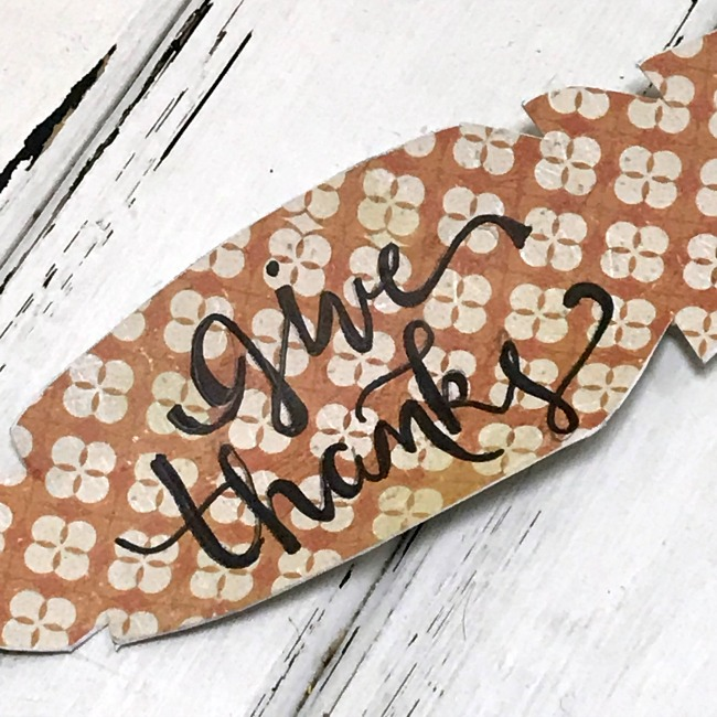 Give Thanks DIY Metal Thanksgiving Feather