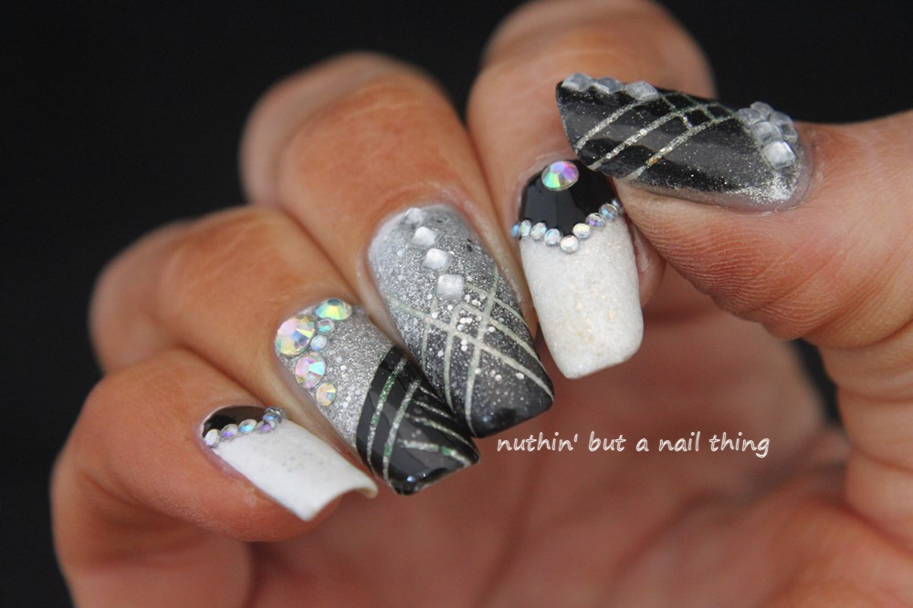 Nuthin but a nail thing great gatsby and glitter great gatsby 1920s inspired nail art prinsesfo Images