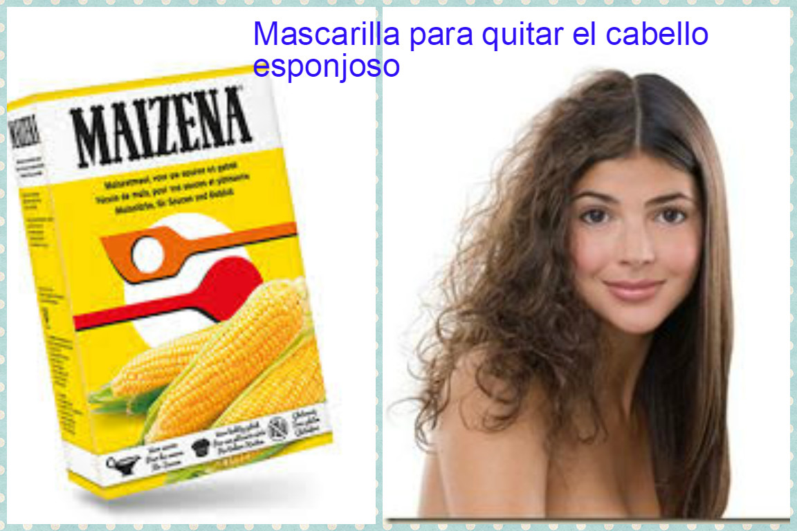 Mascarilla de maizena para el pelo rizado