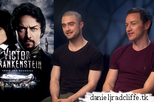 Updated: Victor Frankenstein press junket interview(s) (DE)