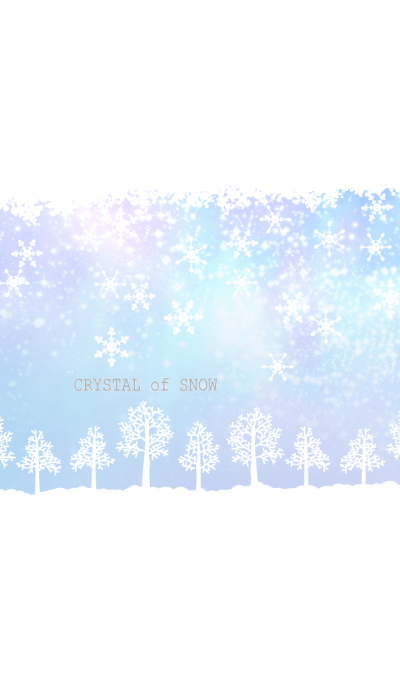 Crystal of snow-forest