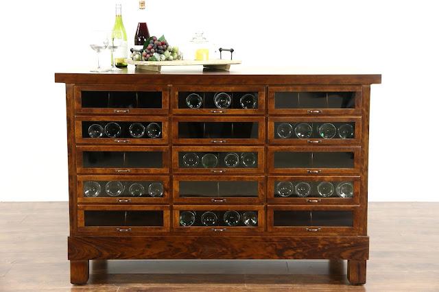 kitchen island display cabinet