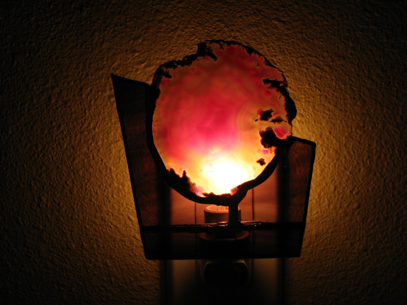 Glass Night Lights Everyday Handmade Stained Glass Geode Night Light