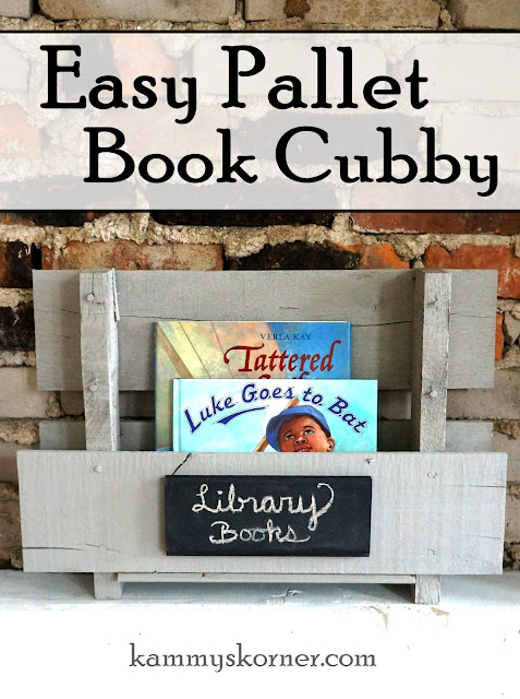 pallet book cubby