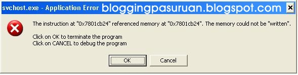 "Masalah "" The memory could not be written "" pada Windows dan Solusinya"