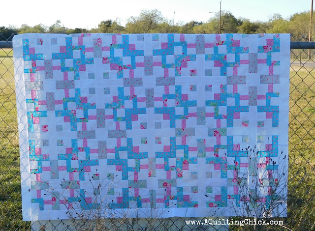 A Quilting Chick - Spring's Awakening Fence Shot