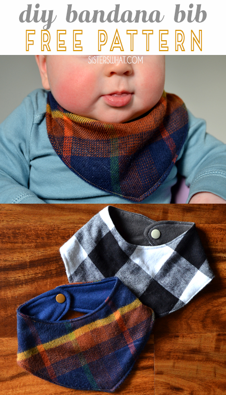 diy bandana bib free pattern - an easy homemade baby shower gift