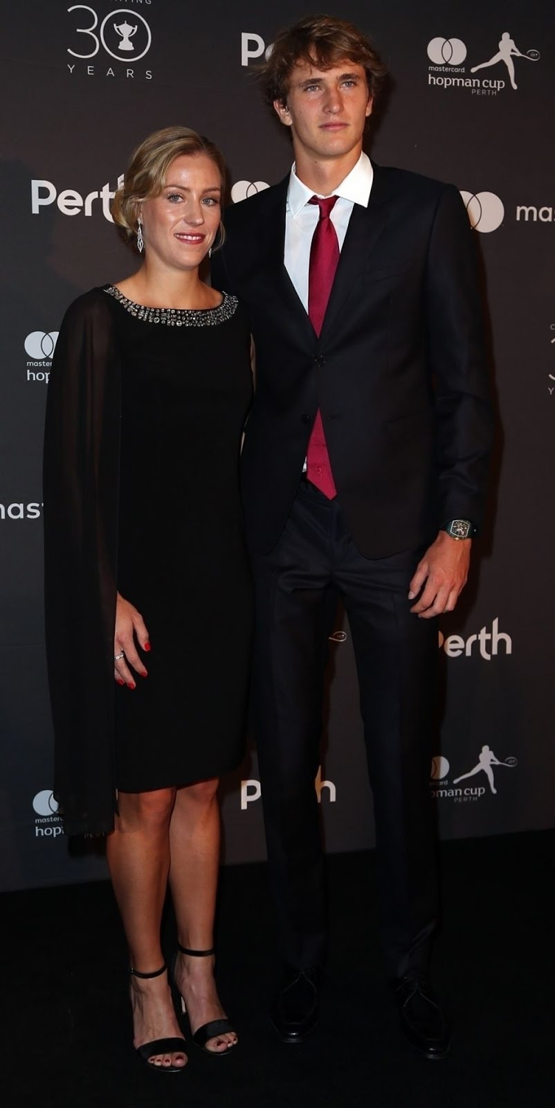 HD Photos of Angelique Kerber And Alexander Zverev At Hopman Cup New Years Eve Players Ball In Perth