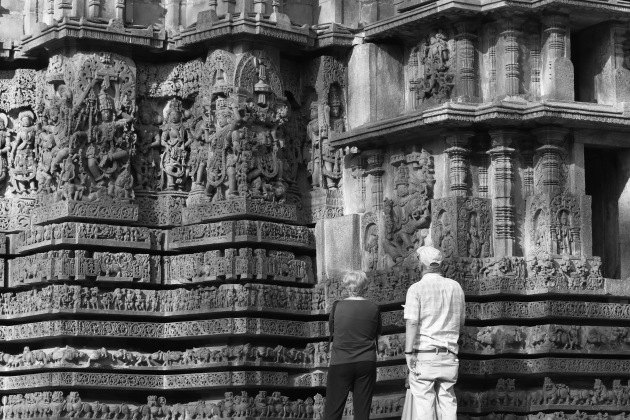 One can spend hours admiring the beauty of Hoysaleswara temple, Halebid