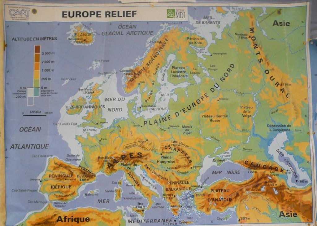 Préféré Les Montagnes En Europe Carte | casamagenta EM48