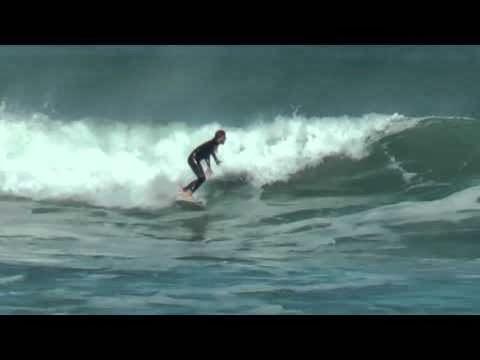 Sesion Surf en La Zurriola 24 de febrero