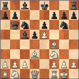 Partida de ajedrez Medina - Martínez Mocete, posición después de 8…Cg6