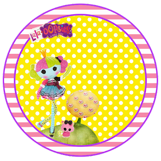 Lalaloopsy Toppers or Free Printable Candy Bar Labels.