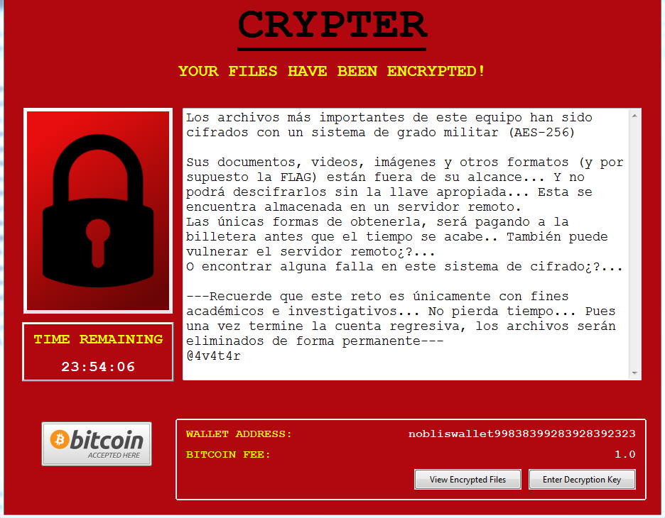 Analysis of Noblis In-dev Ransomware ~ Malware analysis