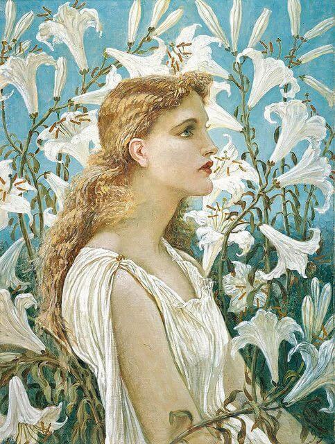 Lilies - Ilustración de Walter Crane