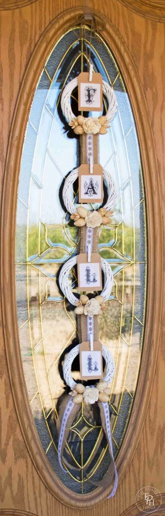 Fall wreath banner diy