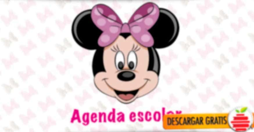 Agenda escolar de Minnie Mouse en formato PDF 2018