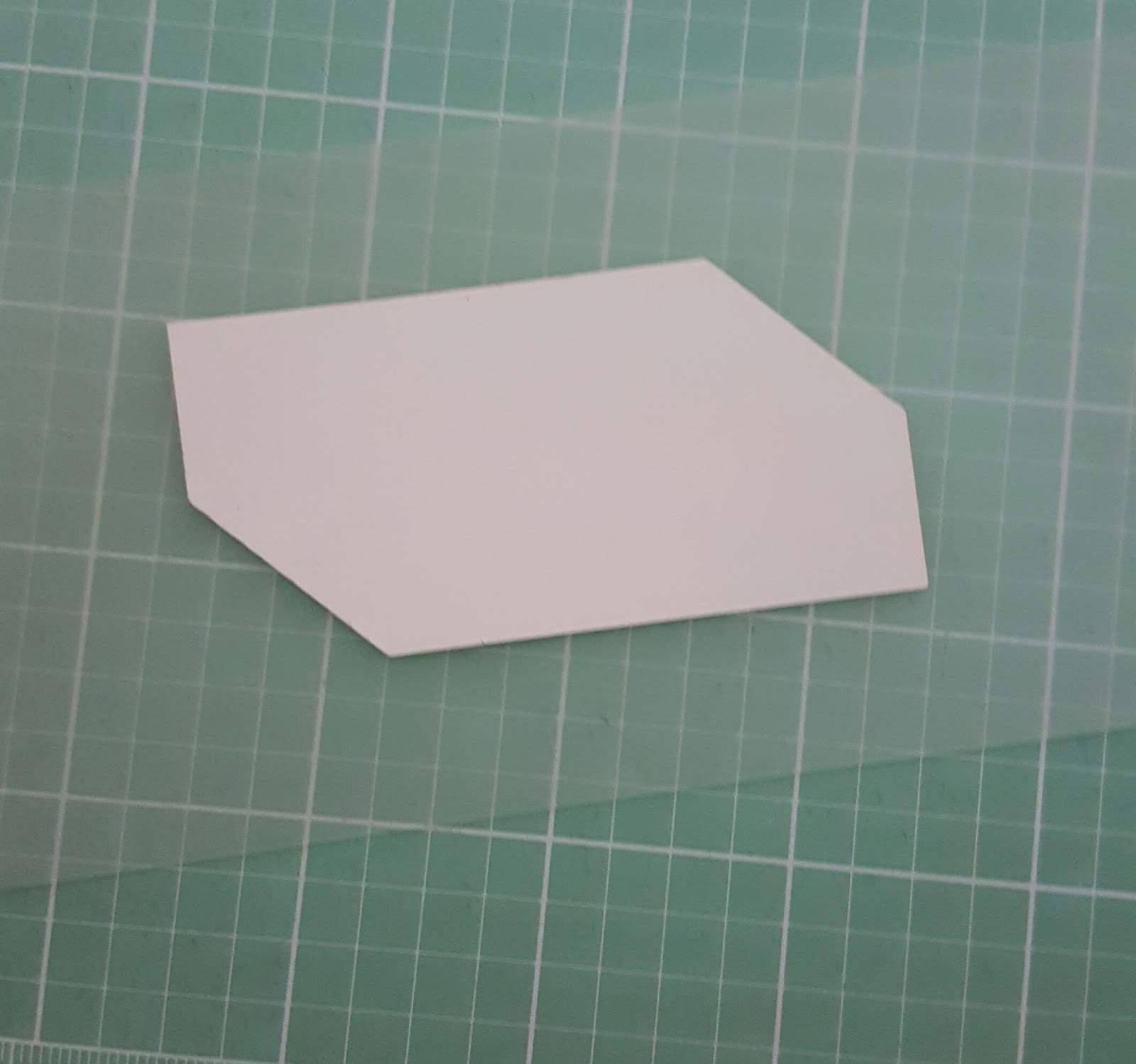 Lilabelle lane easy diy template tutorial english paper piecing take your add a quarter ruler and line the little lip of the ruler against the edge of the paper shape with your rotary cutter and ruler carefully work pronofoot35fo Images