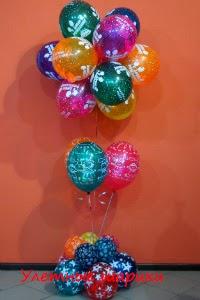 букет из воздушных шаров на день рождения