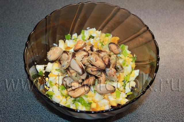 рецепт закуски с мидиями с пошаговыми фото