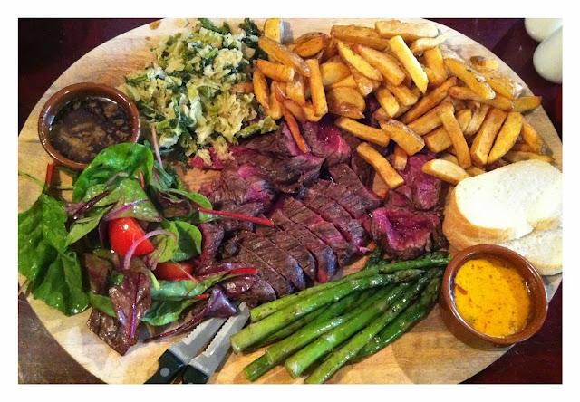Beef steak platter