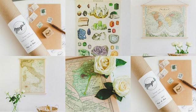 купить винтажные карты мира