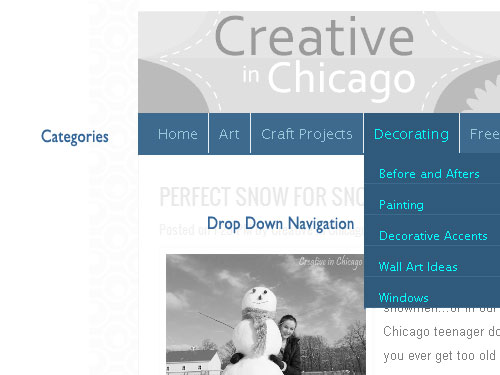 navigation redesign for creative in chicago