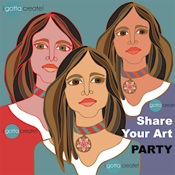 Share Your Art Party at I Gotta Create!
