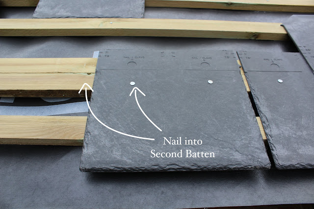 starter course of roof tiles DIY