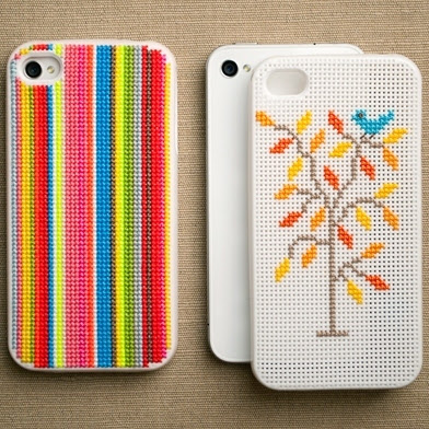 peppermags: DIY: Cross Stitch iPhone