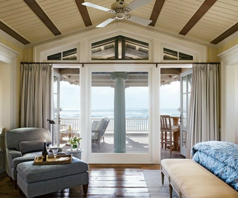ocean view, coastal, bedroom