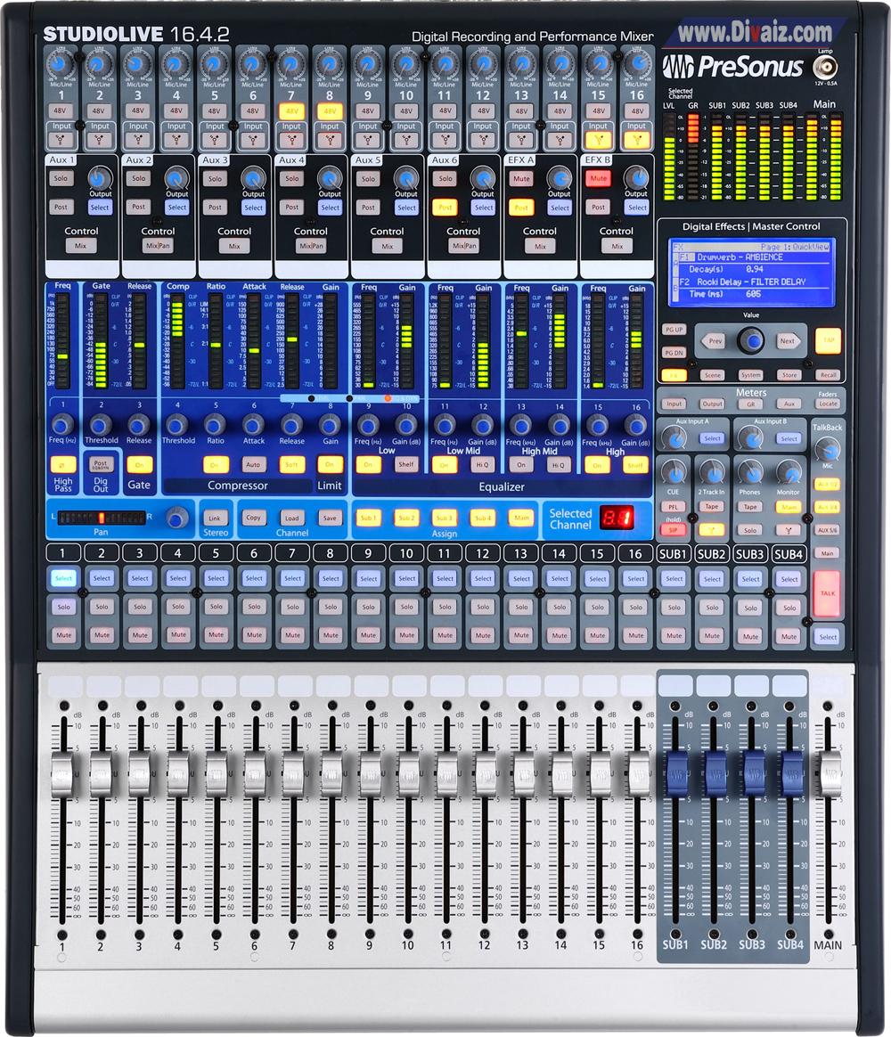 Mixer_Presonus_StudioLive_16.0.2 - www.divaizz.com