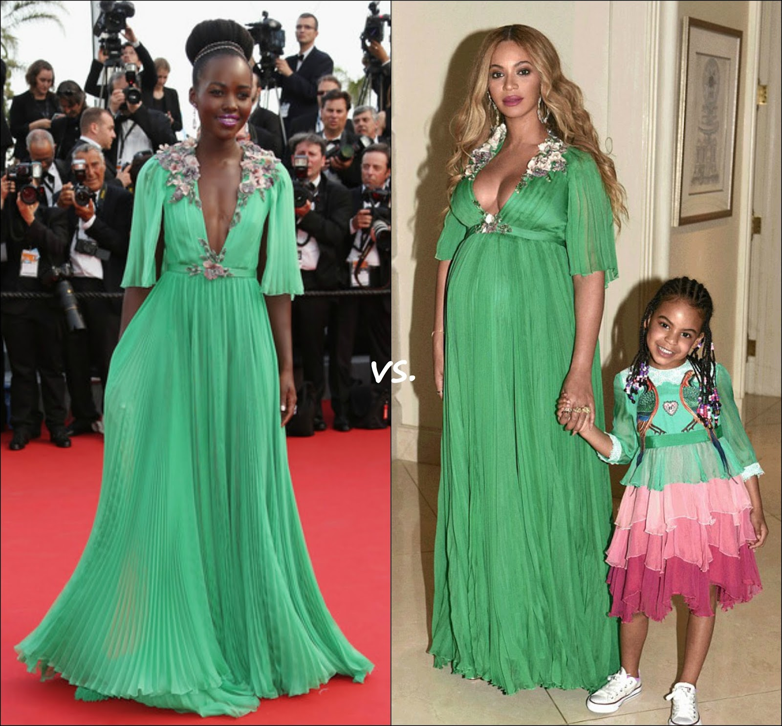 34141560d5c The one who wore this Gucci plisse gown has been Lupita Nyong o back in  2015